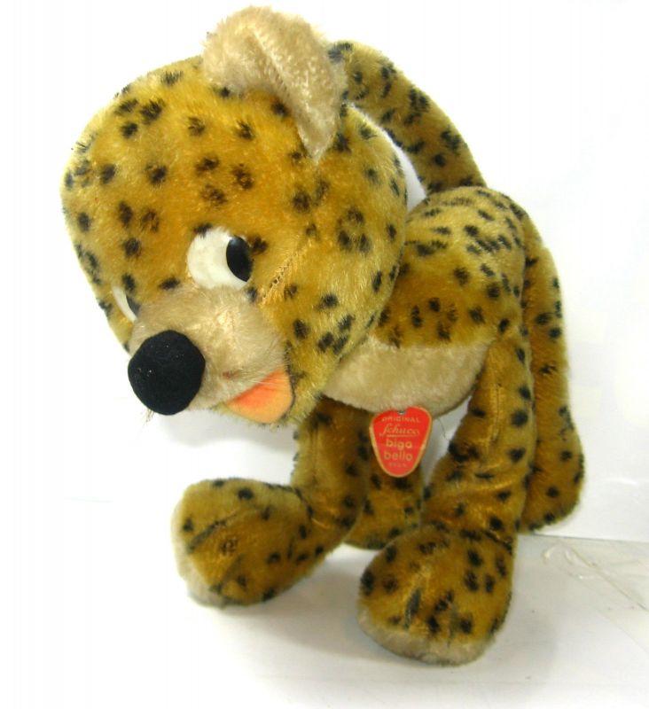 SCHUCO Bigo Bello  Leopard Gepard Plüschtier Stofftier plush 60er - ca.29cm (K6)