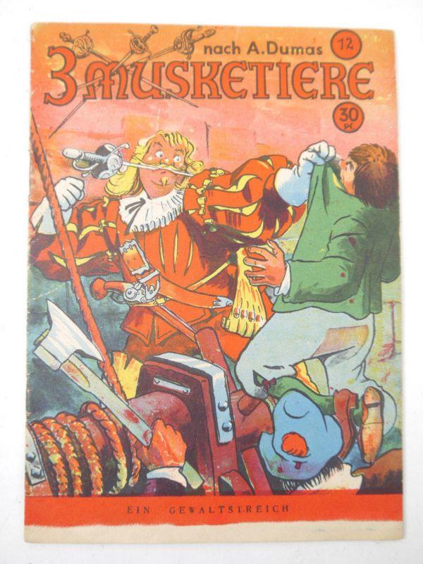 3 MUSKETIERE Band 12   Ein Gewaltstreich Comic Heft TITANUS VERLAG (B7)