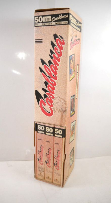 CASABLANCA 50 Jahre  Digital Gemasterte Sammleredition VHS + Poster MGM (F17)