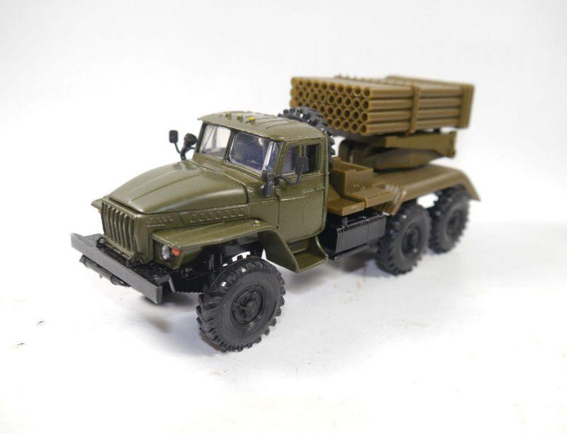 URAL - BM-21 GRAD 6X6 Launch Rocket Missile System russian Modellauto 1:43 (K58)