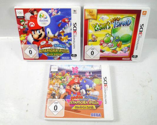 Yoshi's Island MARIO & SONIC Olympische 2012 , 2016 Hüllen 3DS !ohne Spiele! K48