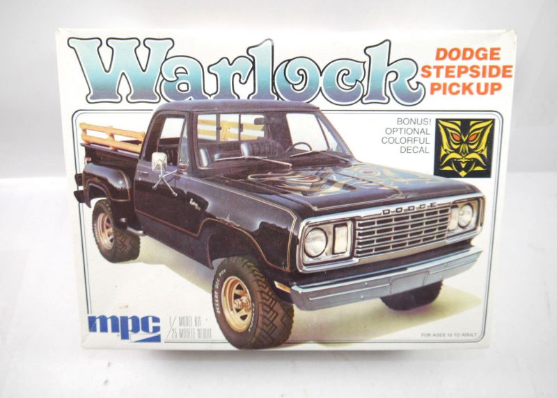 MPC 1-0417 Warlock Dodge Stepside Pick up Auto Plastik Modellbausatz 1:25 (F21)