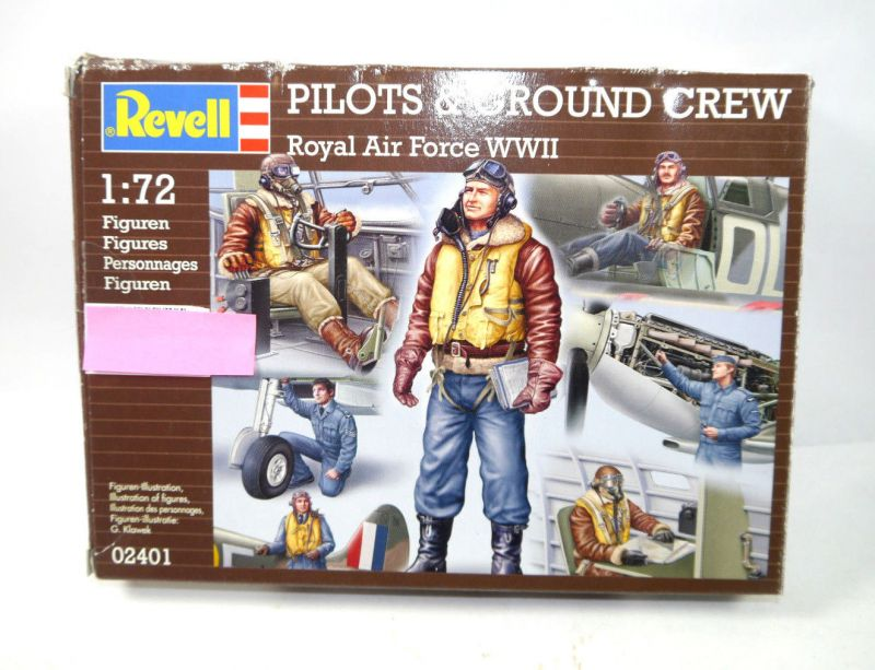 REVELL 02401 Pilots & Grpund Crew Royal Air Force Figur Modellbausatz 1:72 (K22)