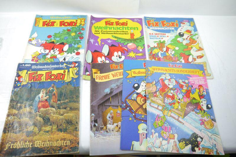 FIX UND FOXI Konvolut Weihnachtshefte Hefte Beilagen  1969 1979 (WRY)
