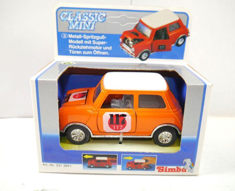 CLASSIC MINI Cooper 117 Modellauto mit Rückziehfunktion orange SIMBA (K85)#01