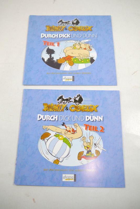 Asterix & Obelix Durch Dick und Dünn Teil 1 + 2   Ehapa      Z : 1 - 2  ( WR2 )