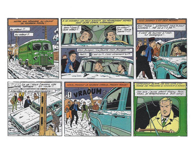 BLAKE & MORTIMER Fourgon postal Peugeot D3B 1953 Modellauto FIGURES & VOUS Neu * 3
