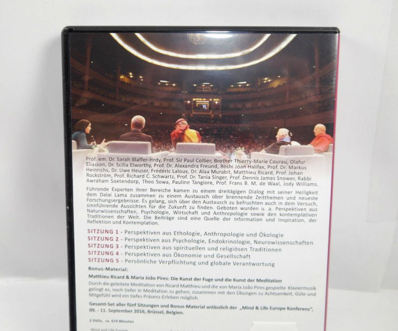 PERSÖNLICHE VERPFLICHTUNGEN & GLOBALE VERANTWORTUNG DVD Mind & Life Lama (WR4) 1