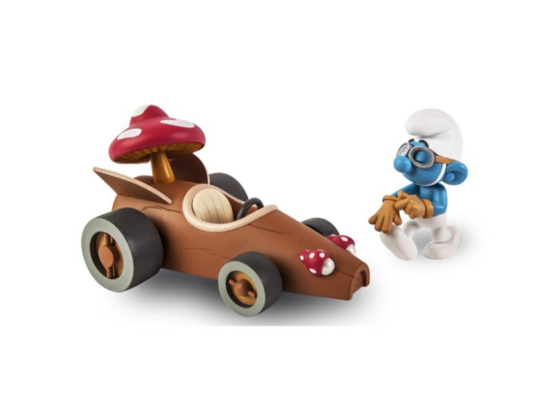 DIE SCHLÜMPFE Smurfs - Der Champion Schlumpfmobil Figur FIGURES & VOUS Neu (L)*