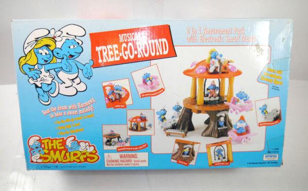 SCHLÜMPFE Smurfs  Musical Tree-Go Round Spielset mit Sound + Figur IRWIN (F1)*
