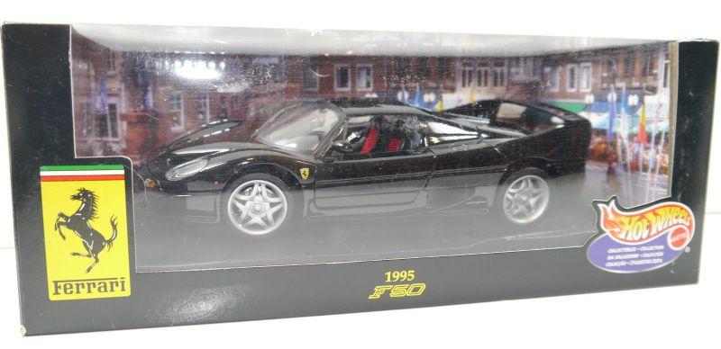 HOT WHEELS 23910 Ferrari F50 1995 Metall Modellauto schwarz 1:18 - mit OVP (F2)