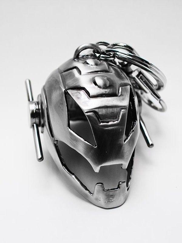 MARVEL Ultron Helm Schlüsselanhänger keyring Metall SEMIC Neu (L)