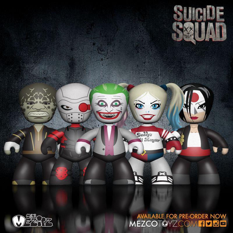 SUICIDE SQUAD 5er Minifigur MINI MEZ-ITZ Harley Quinn Joker ... MEZCO Neu (L)