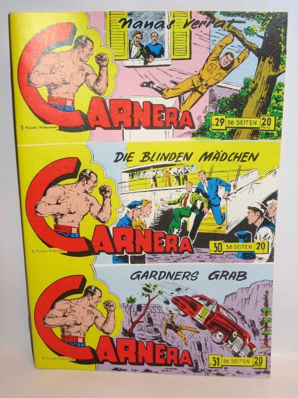 CARNERA Piccolo Nr. 29, 30, 31 UNGESCHNITTEN / Hethke Comics (L)