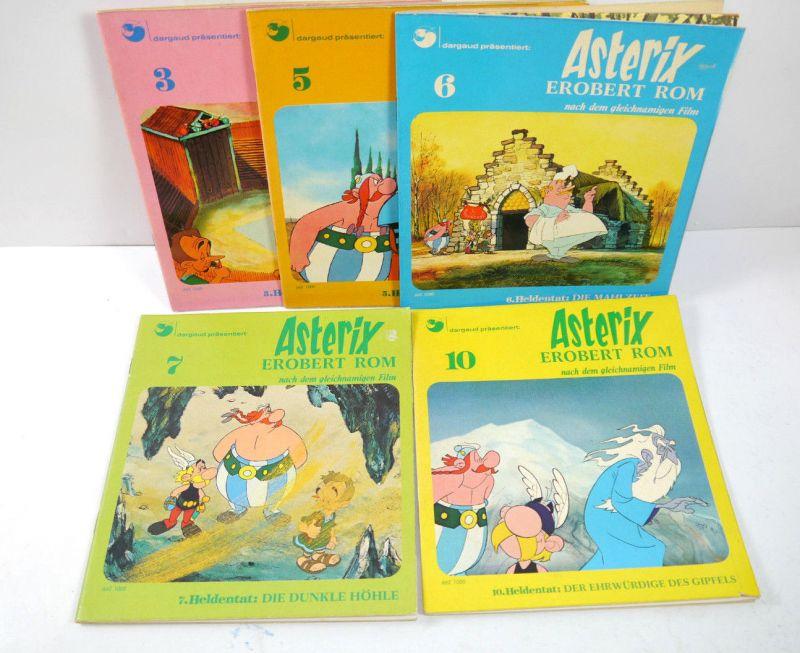 ASTERIX erobert Rom - Nr. 3 5 6 7 10 Comic Kinderbuch PESTALOZZI VERLAG (WR3)