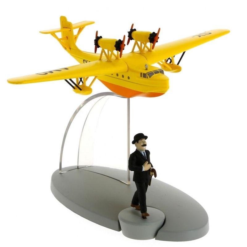 TIM & STRUPPI Wasserflugzeug Schultze Figur Tintin Moulinsart Flugzeug 29545 (L*