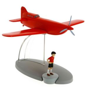 TIM & STRUPPI Flugzeug mit JO Figur Tintin Moulinsart Modell 29546 L*
