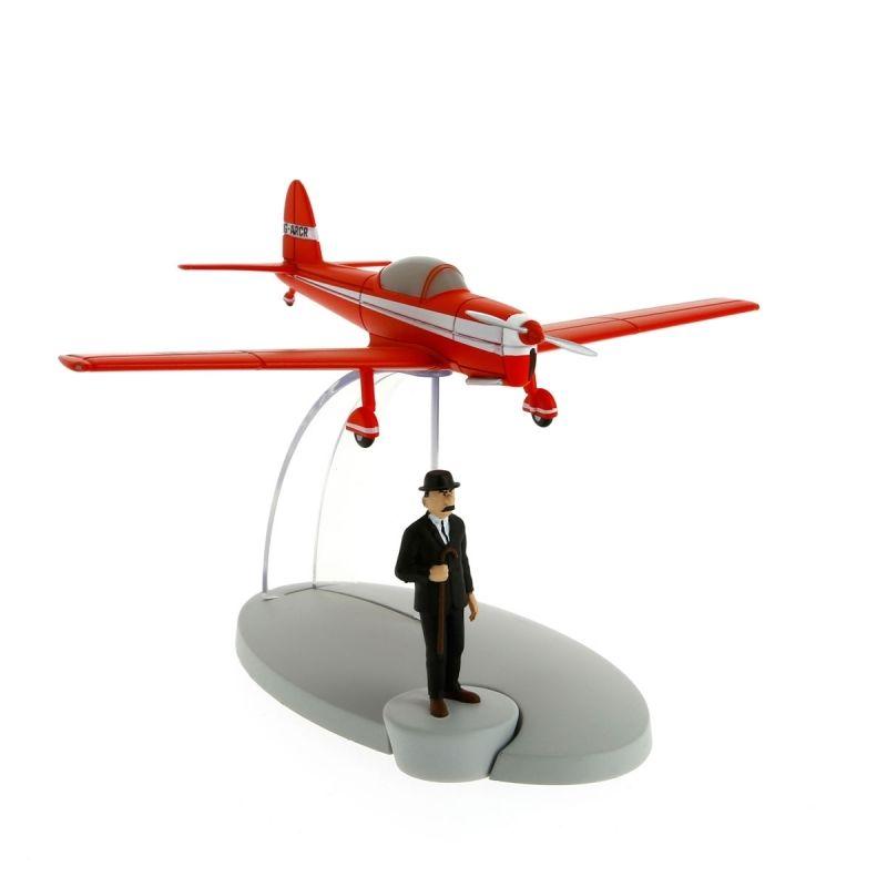 TIM & STRUPPI Rotes Flugzeug Schulze Figur Tintin Moulinsart Modell 29528 (L*