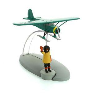TIM & STRUPPI Professor Nielsen Skiplane Flugzeug Tintin Modell 29569 Neu (L)*
