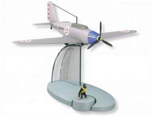 TIM & STRUPPI Flugzeug Jo Jette & Jocko   Tintin Moulinsart Flugzeug 29555 L*