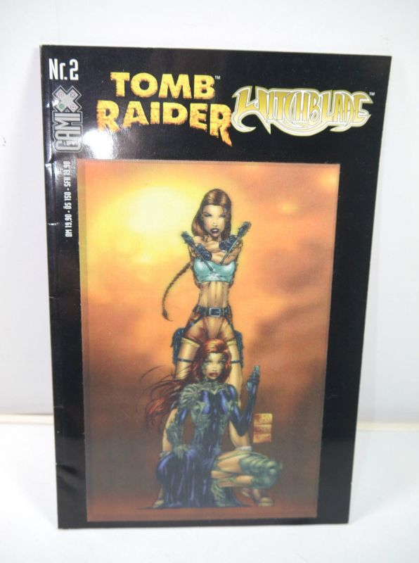 TOMB RAIDER / WITCHBLADE Heft 2 Comic mit Wackelbild-Cover GAMIX (MF18)