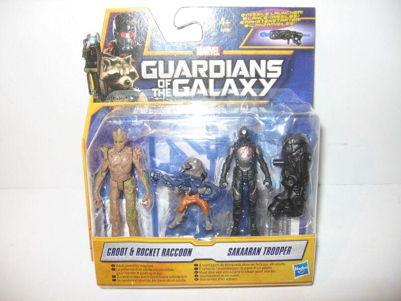 GUARDIANS OF THE GALAXY A7898 Groot, Rocket, Trooper Actionfigur Set HASBRO(KB)