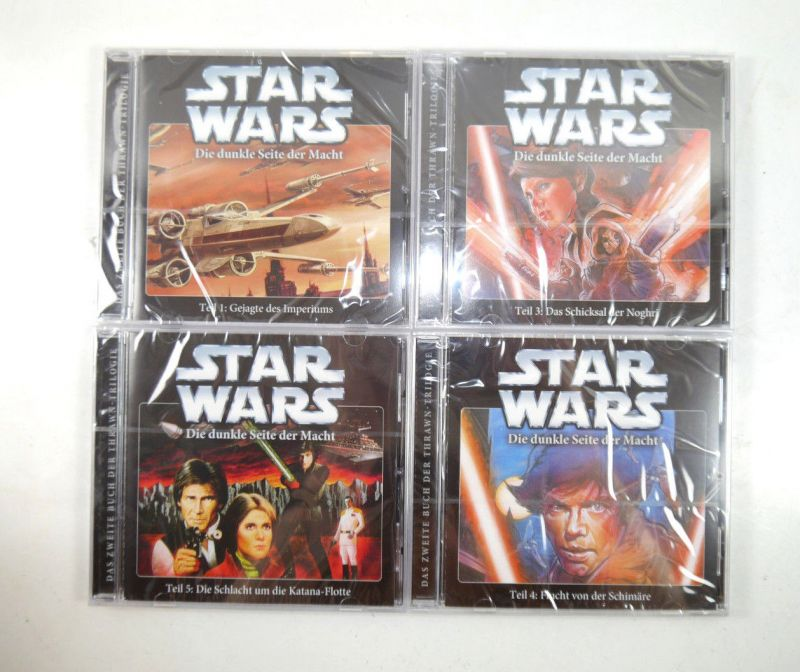 STAR WARS Dunkle Seite der Macht - Teil 1 3 4 5 CD Hörspiel IMAGA Audio Neu KB