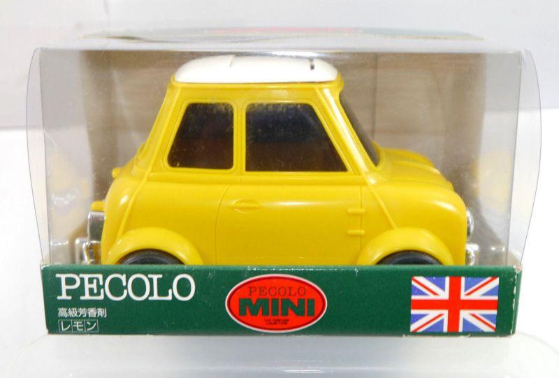 PECOLO MINI Cooper gelb yellow Auto Parfümflasche ( ohne Inhalt ) mit OVP (K52) 0