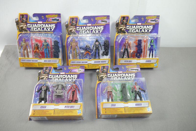 GUARDIANS OF THE GALAXY 5er Set mit Peter Quill & Gamora Actionfigur HASBRO K27