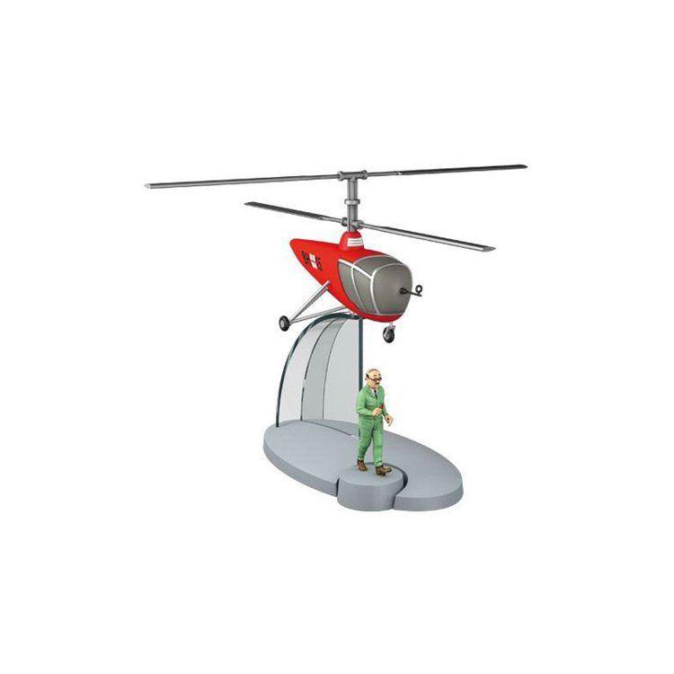 TIM & STRUPPI Hubschrauber mit Wolf  Tintin Moulinsart Flugzeug 29550 (L*