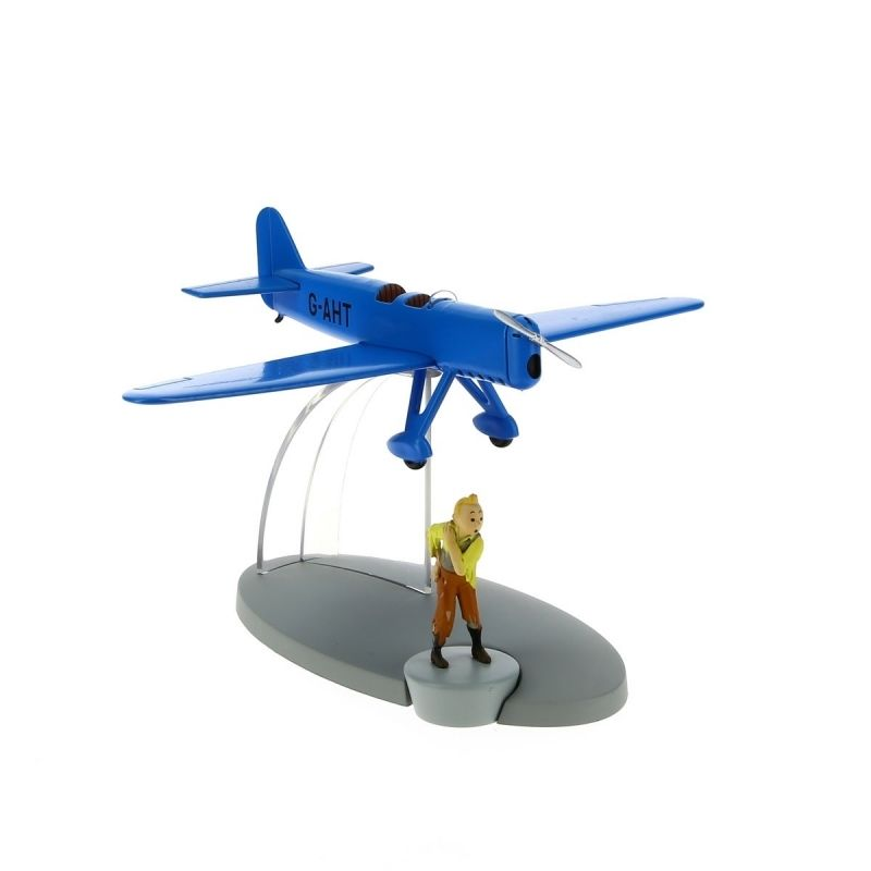 TIM & STRUPPI Blaues Rennflugzeug Flugzeug Tintin Moulinsart Flugzeug 29551 (L)*