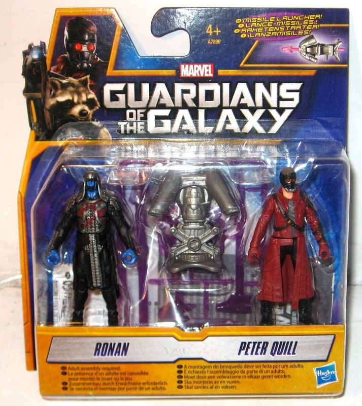 GUARDIANS OF THE GALAXY A7896 Ronan & Peter Quill Actionfigur Set HASBRO (KB)