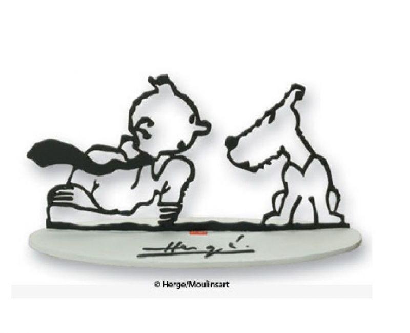 TIM & STRUPPI Hommage an Herge Moulinsart Figur Tintin 15cm Limitiert OVP L*