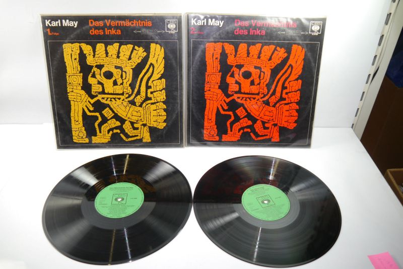 Karl May Das Vermächnis des Inka Folge 1 + 2 Schallplatte  LP  CBS  Z: gut (WR1)