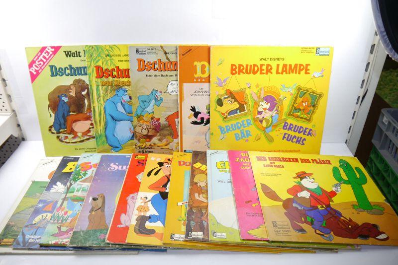 Disneyland 16 Schallplatten LP  u.a. Dshungelbuch Elliott Goofy Donald. (WR1)