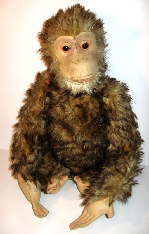 HERMANN Jocko Affe Schimpanse Stofftier plush ca.30er Jahre ca.42cm (K8) 0