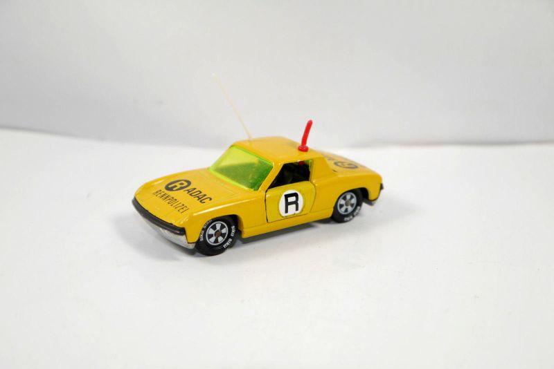 SIKU V 312 VW Porsche 914-6 ADAC Rennpolizei gelb Metall Modellauto (K21) #06