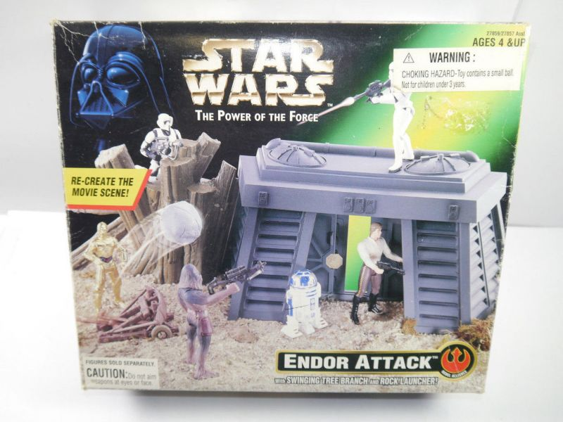 STAR WARS Power of the the Force - Endor Attack Spielset KENNER mit OVP (L)