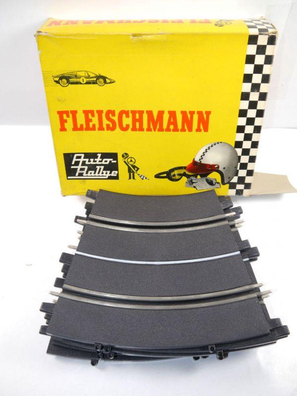 FLEISCHMANN Auto Rallye : 3151 Kurve ( 6 Stk. ) Schiene für Slotcar mit OVP F16