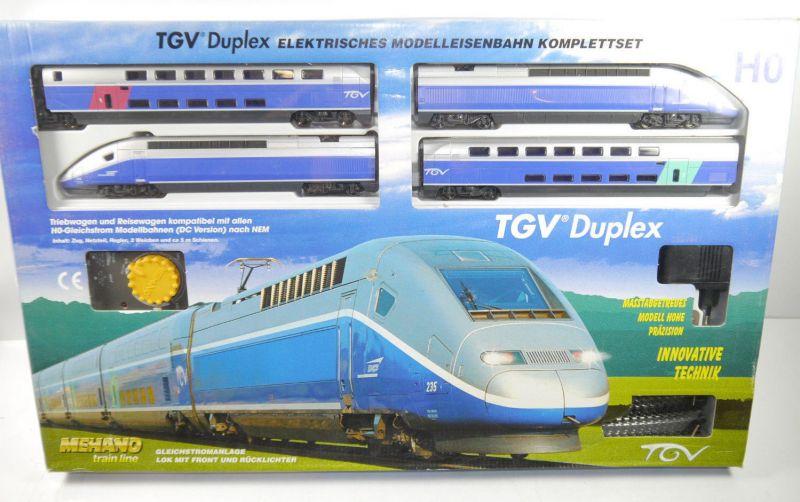 TGV DUPLEX Mehano Train Komplettset H0 Gleichstrom Triebwagen NEU (F15)