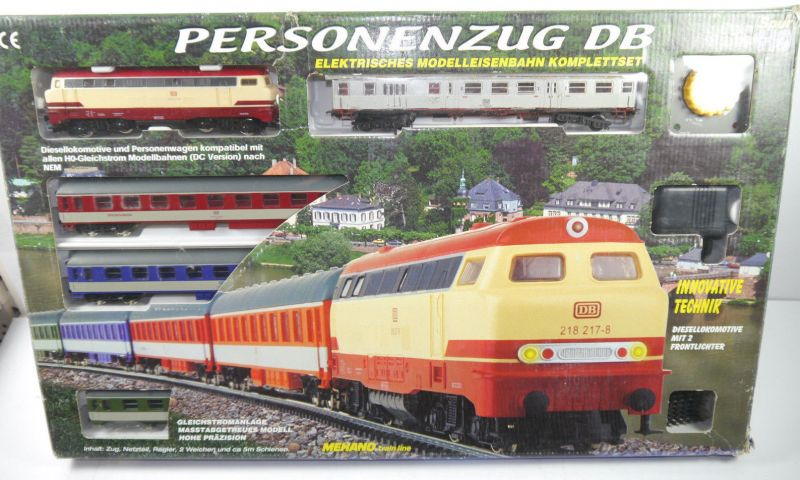 PERSONENZUG DB Mehano Train Komplettset H0 Gleichstrom Diesellokomotive (F5)