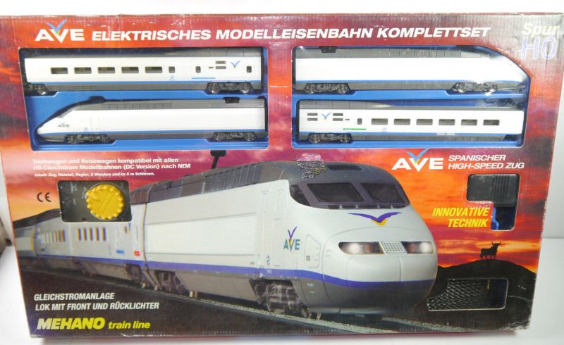 AVE Spanischer High-Speed Mehano Train Komplettset H0 Triebwagen Neu (F18) Z:1 0