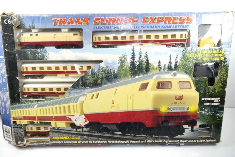 TRANS EUROPE EXPRESS Mehano Train Line Diesellokomotive DB Komplettset H0 (F5)