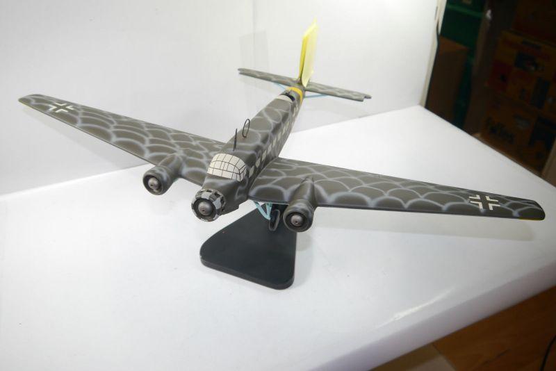 Flugzeug Standmodell JU-52 Balsaholz balsa wood Spannweite  ca.61cm  KA1 0