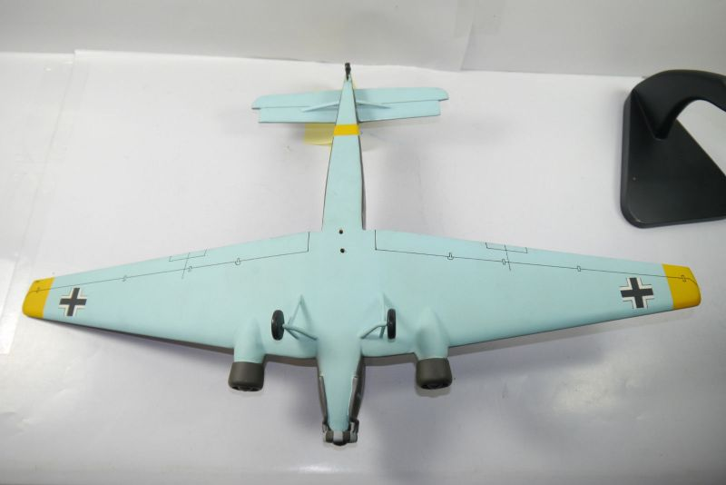 Flugzeug Standmodell JU-52 Balsaholz balsa wood Spannweite  ca.61cm  KA1 5