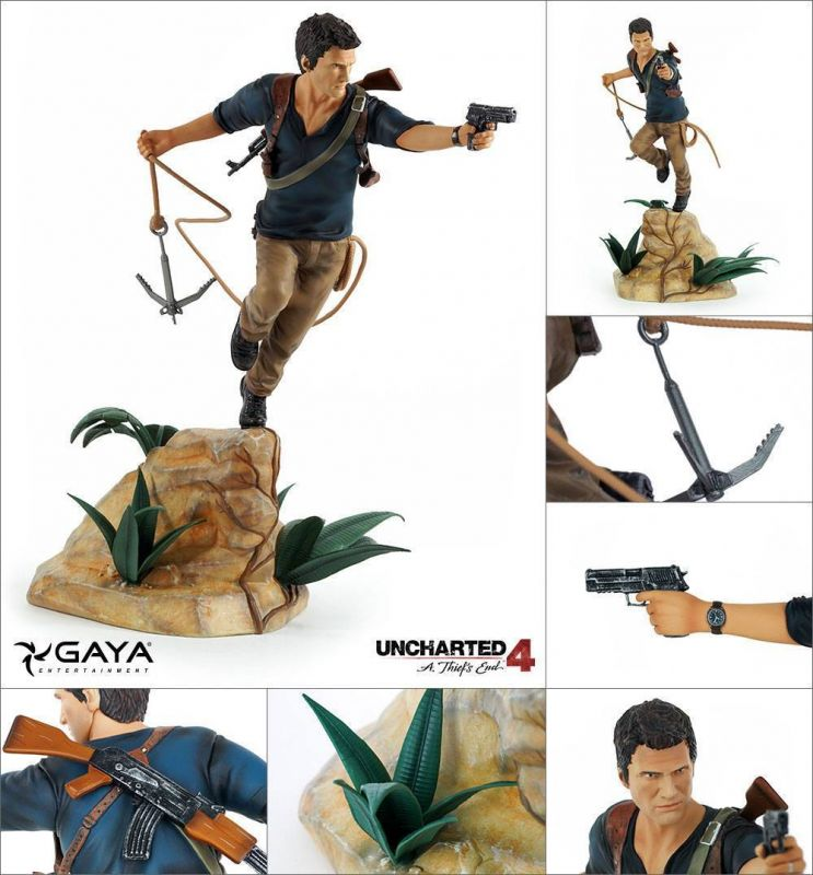 Uncharted 4 A Thief's End PVC Statue Nathan Drake 30 cm Gaya  Neu KB* 1