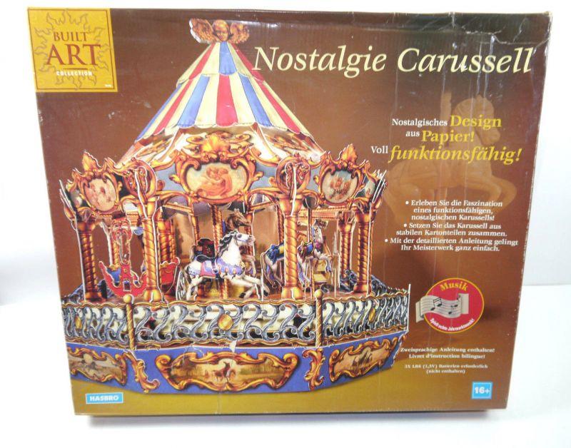 BUILT ART Nostalgie Carussell / Karussell Papier Modellbausatz HASBRO (F18)