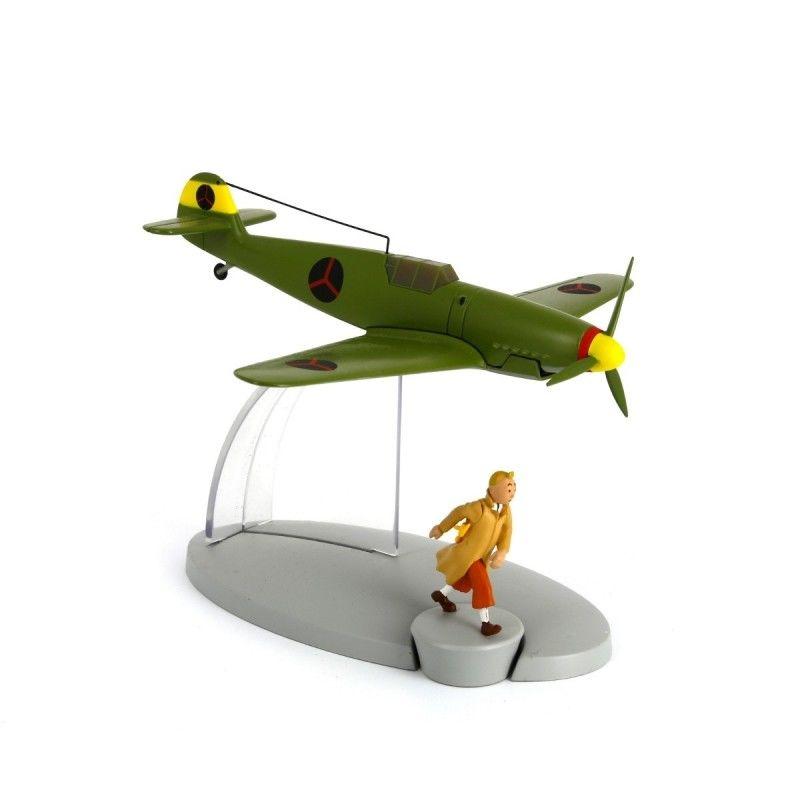 TIM & STRUPPI Tintin Messerschmitt BF-109 Flugzeugmodell MOULINSART 29536 (L) *