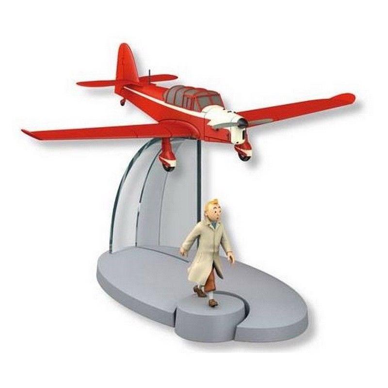 TIM & STRUPPI Percival P40 Prentice Flugzeugmodell mit Tim MOULINSART 29557 (L)