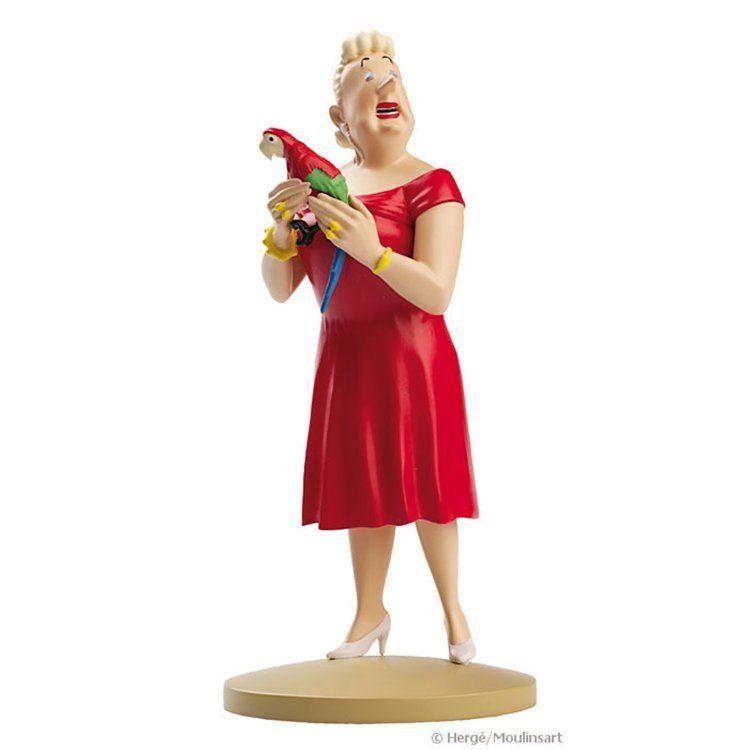 TIM & STRUPPI Tintin - Castafiore mit Papagei Figur MOULINSART ca.13cm NEU (L)*